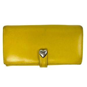 Furla Mustard Yellow Wallet Cards Leather Zipper